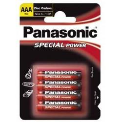 Baterie mikrotužková AAA R03R/4ks zinkouhlíková Panasonic Special