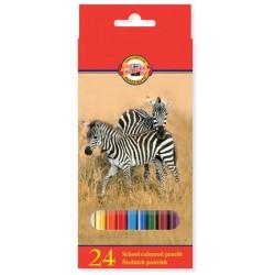 Pastelky 24ks Koh-i-noor 3554 zvířata