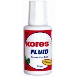 Korekční opravný lak Kores Fluid se štětečkem