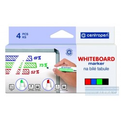 Popisovač bílá tabule Centropen WBM 8859/8559/4 2,5mm sada
