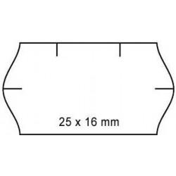 Cenové etikety 25x16mm 1125ks Contact oblé okraje bílé