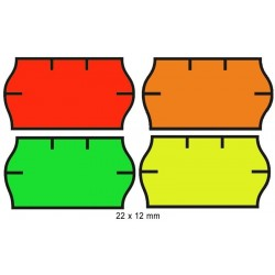 Zboží na objednávku - Cenové etikety 22x12mm 1500ks Contact signální oblé okraje