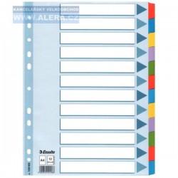 Rozřaďovač A4 2x6 listů barevný papír Esselte Mylar 100169