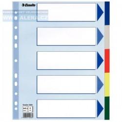 Rozřaďovač A4+ 5 listů barevný plastový Esselte 15266