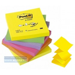 Lepicí bloček 3M Post-It R-330-NR Z-Notes 76x76mm 6x 100 lístků barevný mix