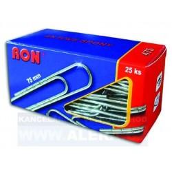 Spony kancelářské 75mm RON 475, 25ks