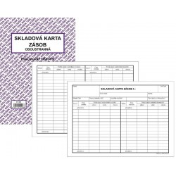 Tiskopis Skladová karta zásob oboustranná A5/10li. BAL EKO ET450