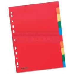Rozřaďovač A4 2x5 listů barevný plast