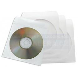 Obálka papírová na CD 1kus s okénkem olizovací [ POUZE PO 100 ks ]