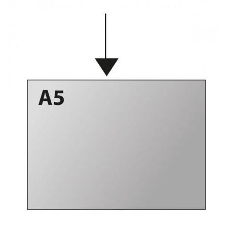 Obal A5 U na šířku 150mic PVC tuhý čirý, 1ks [ POUZE PO 100 ks ]