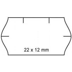 Cenové etikety 22x12mm 1500ks Contact oblé okraje bílé