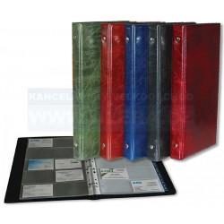 Zboží na objednávku - Vizitkář kroužkový A4 na 200ks registr Xepter kůže lesklá mix barev