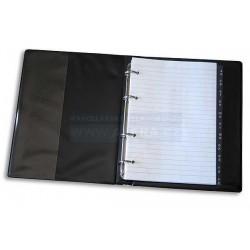 Zboží na objednávku - Blok Karis kroužkový A4 plast registr + náplň černý
