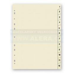 Zboží na objednávku - Rozřaďovač A4 1-12 listů papírový Hit Office