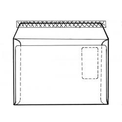 Obálka C4 1ks krycí páska vnitřní potisk okno vpravo ELCO