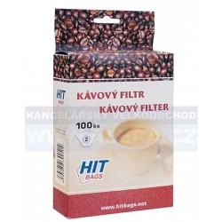 Kávový filtr č.2 100ks v balení