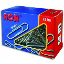 .Spony kancelářské 32mm RON 453 oblé, 75ks