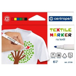 Popisovač Centropen 2739/6 textil 1.8mm