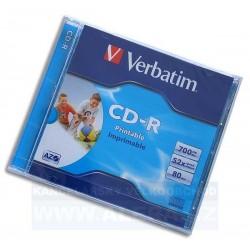 Disk CD 700MB/80min Verbatim DataLifePlus Printable Jewel