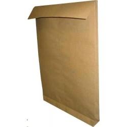 Obálka B4 taška 1ks křížové dno hnědá výztuha mřížka samolepící