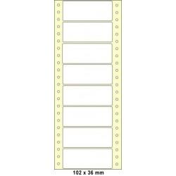 Etikety tabelační 102x36 jednořadé 400ks