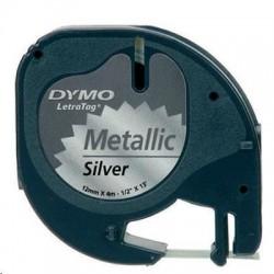 Dymo páska LETRA TAG 12x4m metalická