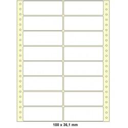 Etikety tabelační 100x36,1 dvouřadé 8000ks