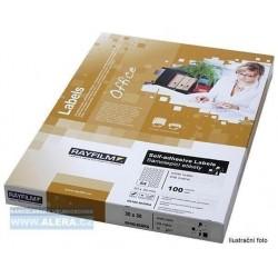 Etikety R0119 bílé lesk A4 100listů