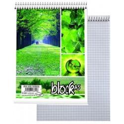Zboží na objednávku - Blok A5 čtvereček kroužkový - horní spirála, 50 l. Papírny Brno