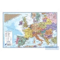 Podložka na stůl 60cm x 40cm mapa Evropa