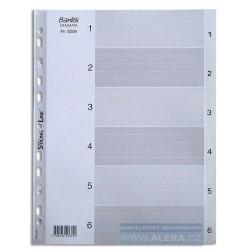 Rozřaďovač A4 1- 6 listů plastový šedý BANTEX 6206