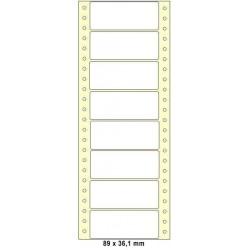 Etikety tabelační 89x36,1 jednořadé 4000ks