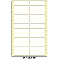 Etikety tabelační 89x23,4 dvouřadé 12000ks