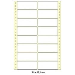 Etikety tabelační 89x36,1 dvouřadé 8000ks