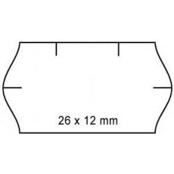 Cenové etikety 26x12mm 1500ks Contact oblé okraje bílé