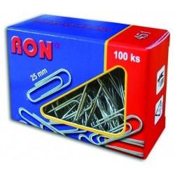 .Spony kancelářské 25mm RON 451 oblé, 100ks