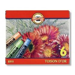 Křída Koh-i-noor 8511/ 6ks TOISON D'OR suchý pastel