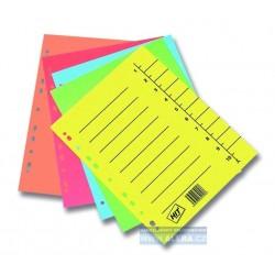Zboží na objednávku - Rozřaďovač A4+ 100 listů papírový odstřihávací Hit Office