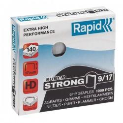 VÝPRODEJ - Spony do sešívačky 9/17 1000ks Rapid super strong