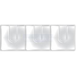 Obal PVC samolepicí kapsa na CD uzavíratelná, 2x3ks