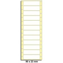 Etikety tabelační 90x23 jednořadé 600ks