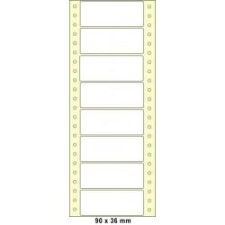 Etikety tabelační 90x36 jednořadé 200ks