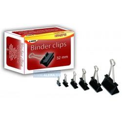Spony Binder klip 32mm/12ks černé