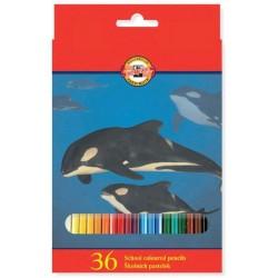 Pastelky 36ks Koh-i-noor 3555 zvířata