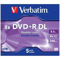 Disk DVD+R 8.5GB 8x Verbatim 43541 DataLifePlus DoubleLayer Jewel po kuse