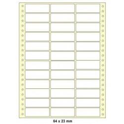 Etikety tabelační 64x23 třířadé 18000ks