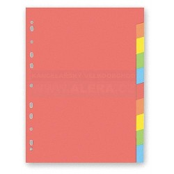 Rozřaďovač A4 2x5 listů barevný papírový karton Hit Office