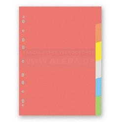 Rozřaďovač A4 6 listů barevný papír Hit Office