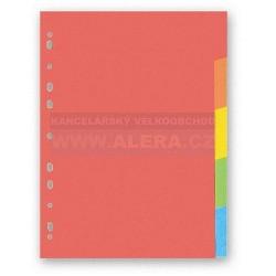 Rozřaďovač A4 5 listů barevný papír Hit Office