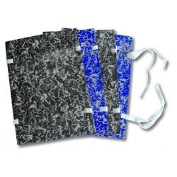 Desky spisové s tkanicí A4 strojní EKO černá mramor [ POUZE PO 25-ti ks ]